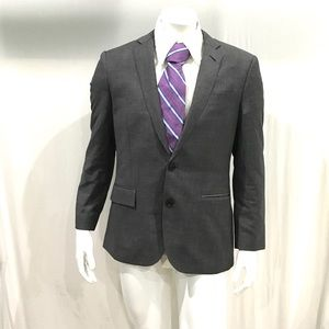 Brioni Mens Gray Striped 2 Button Blazer